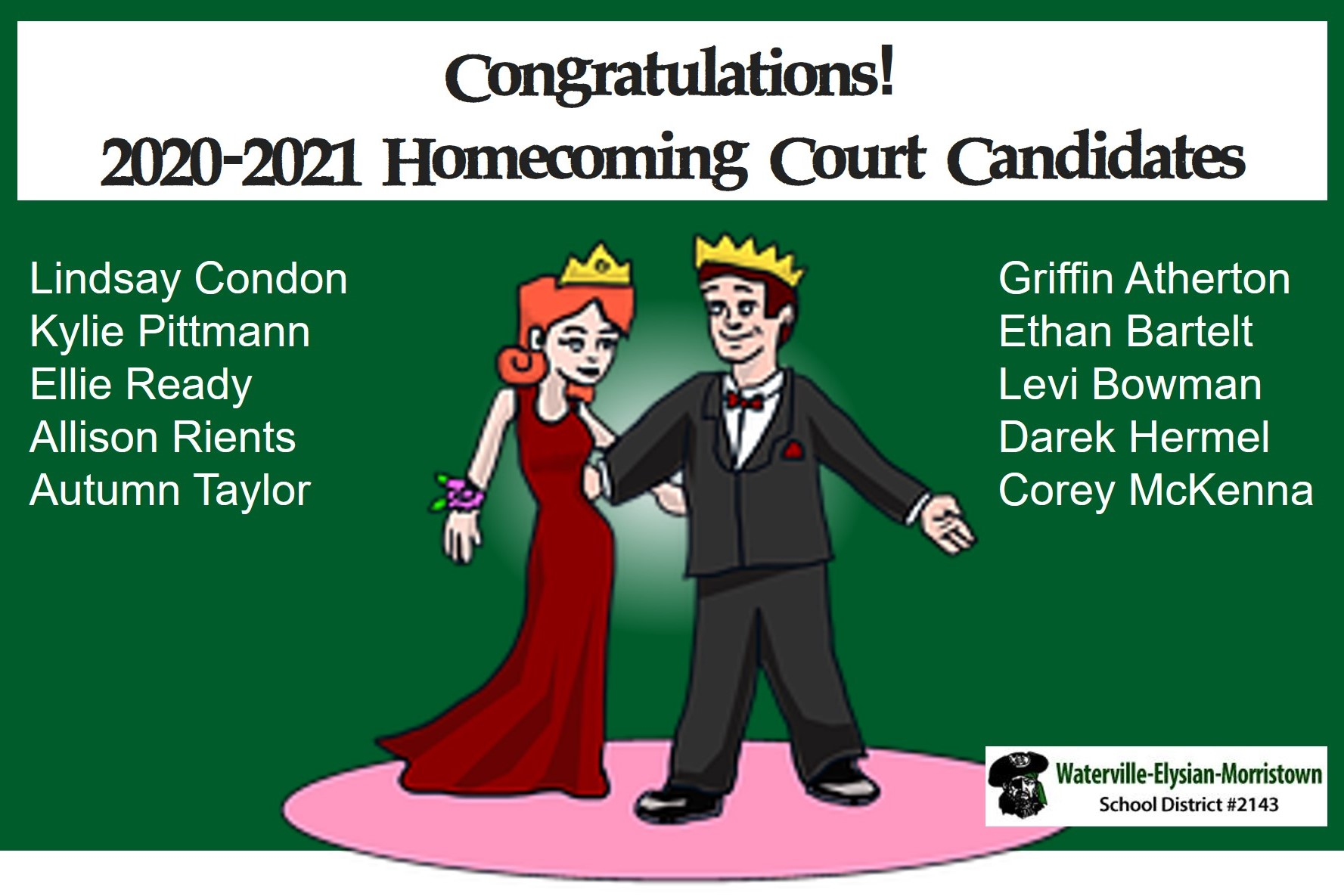 Congratulations! 2020-2021 Homecoming Court Candidates
