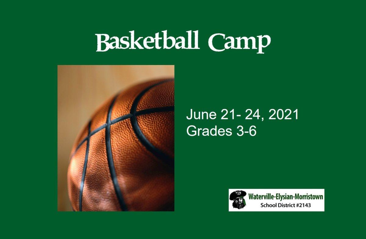 basketball camp, photo of basketball June 2021