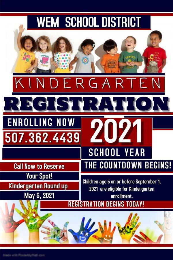 WEM School District Kindergarten Roundup