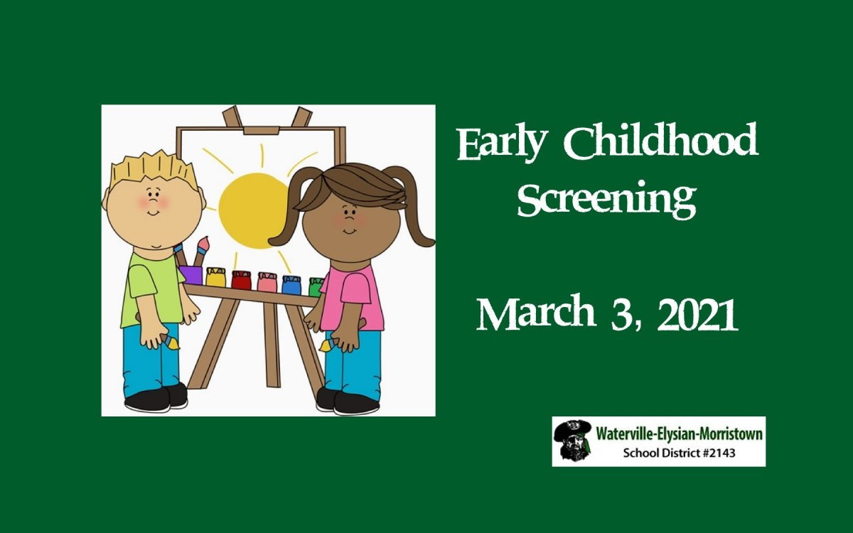 Early childhood screening, March 3, 2021, boy and girl painting on an easel