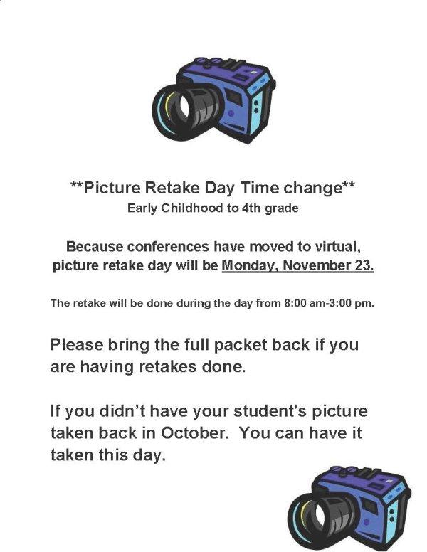 Elementary picture retakes November 23